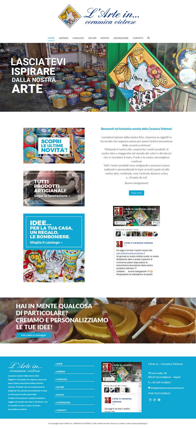 Arte in Ceramica Vietrese - Portfolio Web - 7Web - www.setteweb.it