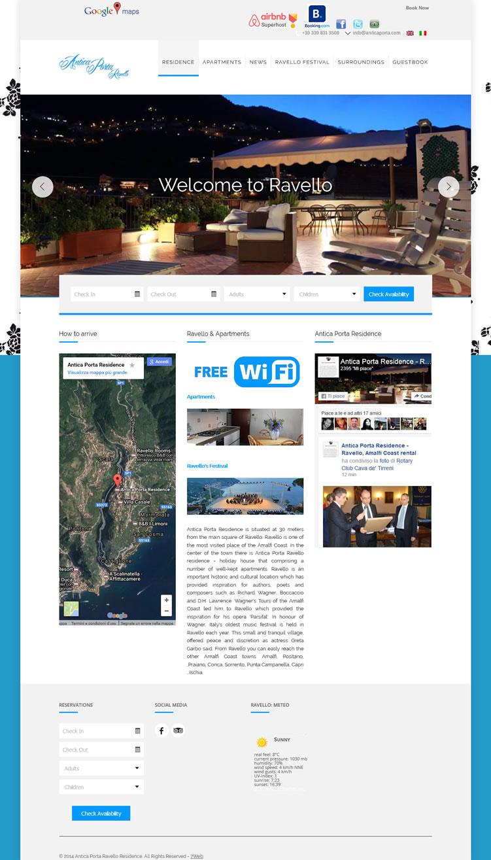 Antica Porta Residence Ravello - Portfolio Web - 7Web - www.setteweb.it