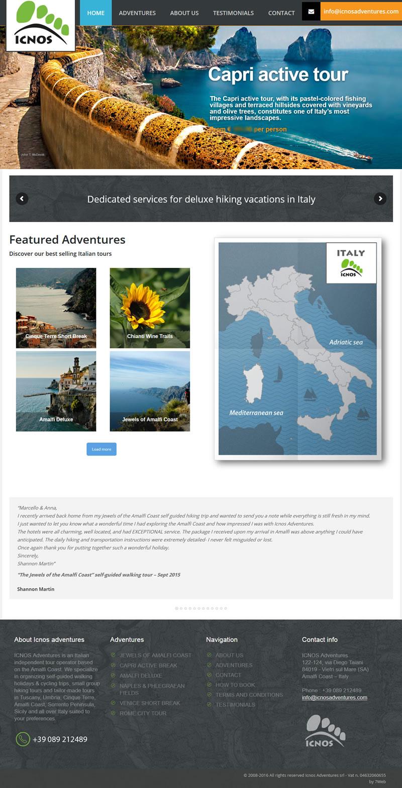 Icnos Adventures - Portfolio Web - 7Web - www.setteweb.it