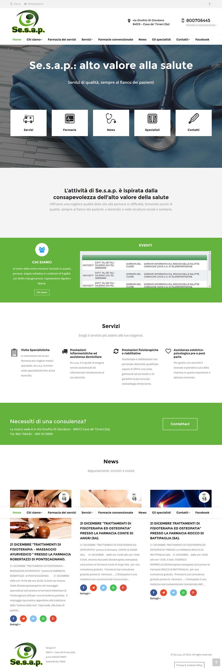 Se.s.a.p. Servizi Sanitari e Assistenziali alla Persona - Portfolio Web - 7Web - www.setteweb.it