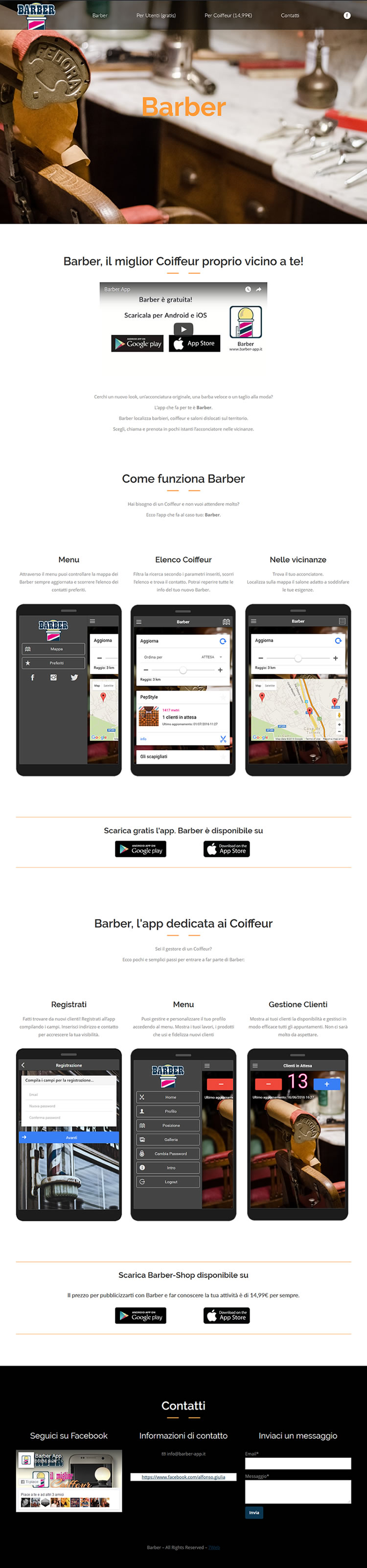 Barber App per coiffeur - App Mobile Android e iOS