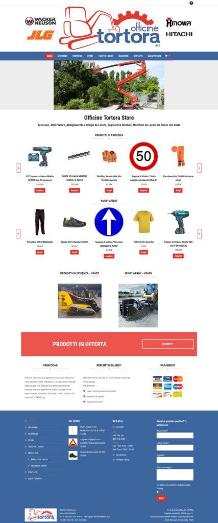 Officine Tortora Store - Abbigliamento e Attrezzature da Lavoro - E-commerce by 7Web - www.setteweb.it
