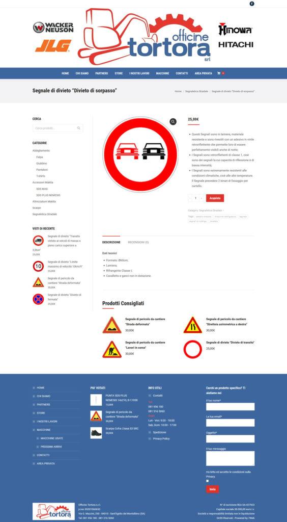 Officine Tortora Store - Dettaglio Prodotto - E-commerce by 7Web - www.setteweb.it